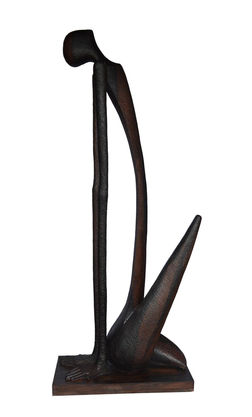 Arise, 89 Inches, Ebony Wood, 2015 (1)