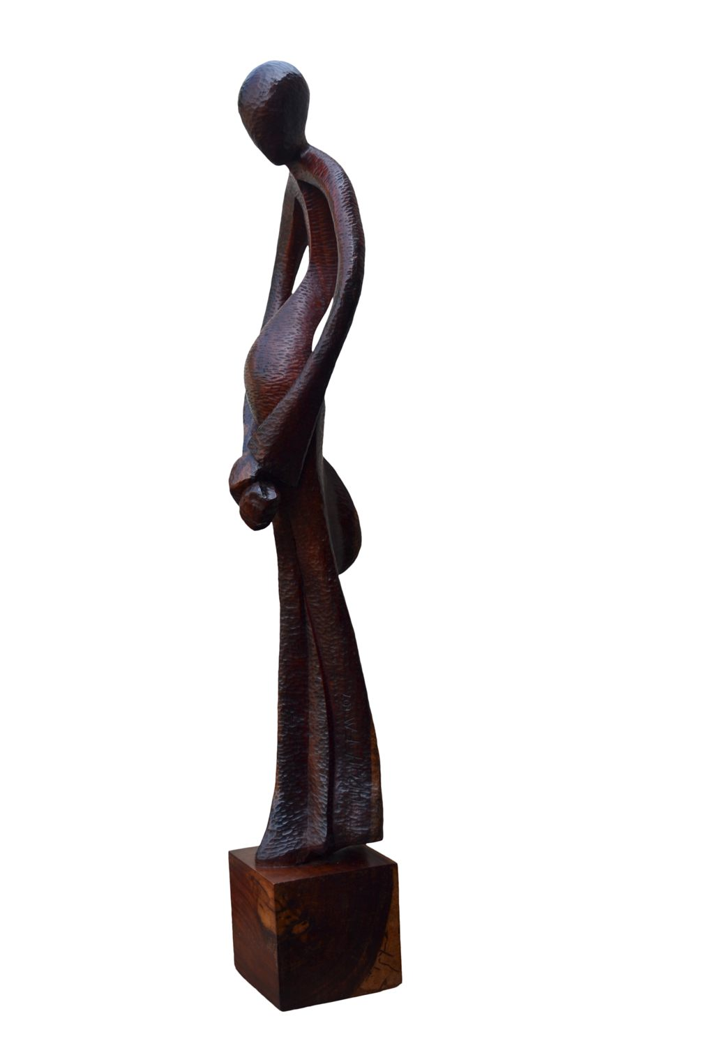 Submission (Wood Sculpture) Height 4ft